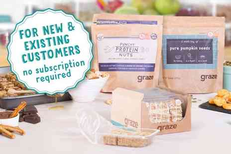 graze - £5 for £10 of graze credit to spend online - Save 50%