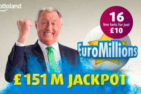 Lottoland - 16 EuroMillions Line Bets - Save 69%