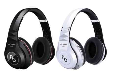 Gift Mountain - Pair of Nu Bass One wireless bluetooth headphones - Save 50%