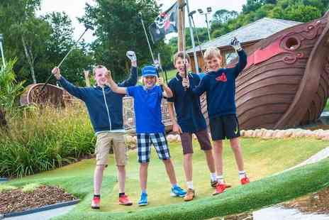 Mr Mulligans Pirate Golf - 18 hole pirate adventure golf experience and hot drink - Save 33%
