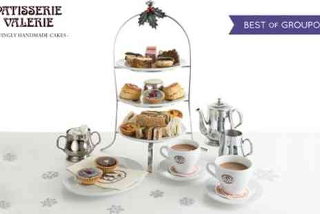 Patisserie Valerie - Festive Afternoon Tea for Two with Optional Prosecco and Mince Pies - Save 21%