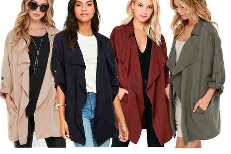 Dress Room - Chic waterfall coat - Save 78%