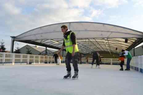 Whilton Locks Garden Village - Undecover Air Skating with Mince Pie and Hot Chocolate for One or Four - Save 0%