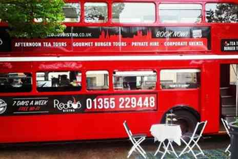 Red Bus Bistro - Vintage Bus Tour for Two with Afternoon Tea or Gourmet Burger Meal - Save 50%