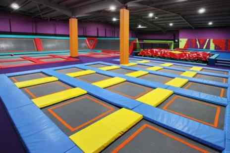 Atom Trampoline Park - Trampoline Park Access with Socks for Up to Four - Save 48%