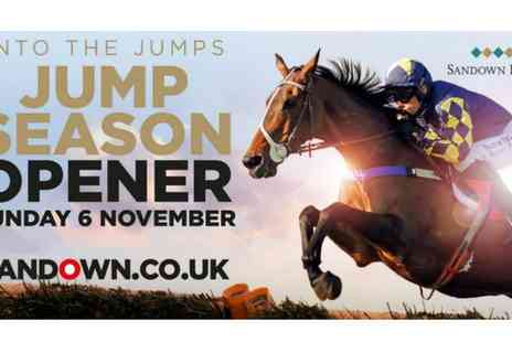 Sandown Park Racecourse - Into The Jumps general admission ticket on 6 November - Save 0%