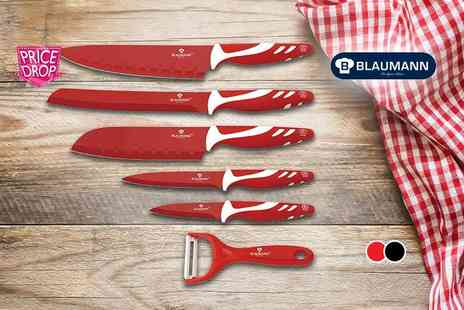 Harvey Robb - Blaumann six piece culinary set choose from black, red or multi coloured - Save 91%
