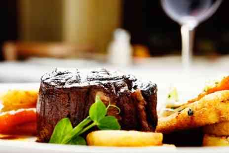 The Fox and Castle - Steak Meal with a Glass of Wine for Two or Four - Save 0%
