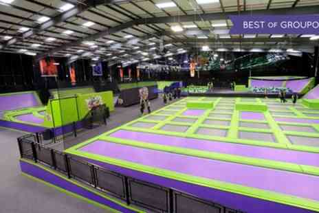 Jump Giants A - One or Two Hour Trampoline Park Access for Up to Four - Save 32%