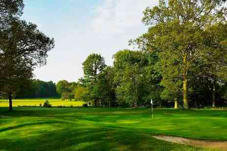 Lingfield Park Marriott Hotel - 18 Holes, Bacon Roll & Coffee for 2 - Save 62%