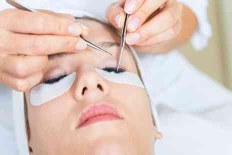 PureBeauty - Full Set of Eyelash Extensions with Optional Eyebrow Wax and Tint - Save 63%