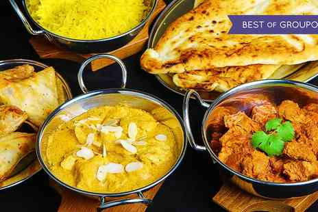 Aroma Indian Restaurant - Three Course Indian Meal with Wine for Two or Four - Save 0%