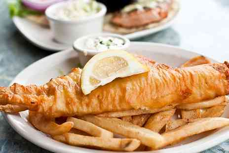 Bakewell Fish & Chips - Two Regular Haddock with Chips and Selection of Either Mushy Peas, Curry or Gravy - Save 35%