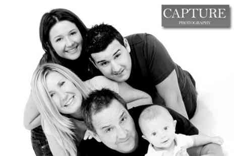 Capture Photographic Studio - One Hour Group Photo Shoot Plus £100 Voucher Towards Prints for £19 - Save 87%