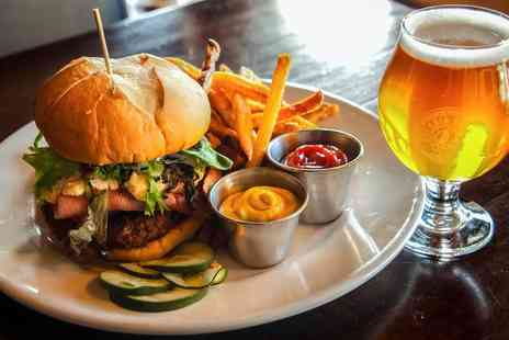 Market Street Brasserie - Burger Meal with Beer or Wine for Two or Four - Save 59%