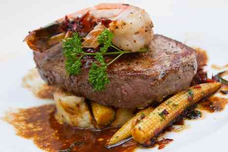 Surf and Turf - Two Course Steak Meal for Two or Four - Save 55%