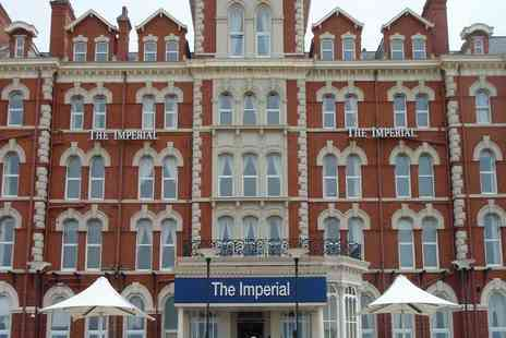The Imperial Hotel - One or two night Blackpool stay with breakfast, dinner, wine and late check out - Save 39%