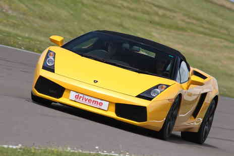 DriveMe - Weekday or Weekend three lap Lamborghini driving experience - Save 34%