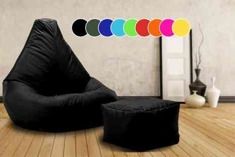UK Beanbags - Highback beanbag with matching footstool, perfect for indoors and outdoors - Save 72%