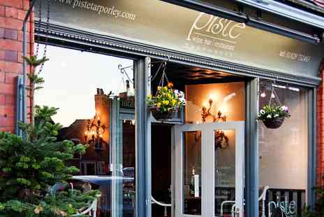 Piste Wine Bar & Restaurant - Sunday Lunch for 2 at Award Winning Cheshire Venue - Save 55%