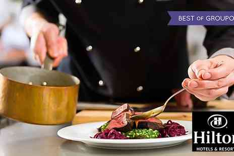 Hilton Manchester Deansgate - Two Course A La Carte Meal with Prosecco for Two or Four - Save 47%