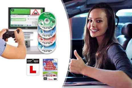 eOutlet - Premium driving test set with DVDs, highway code, L plates and more - Save 64%