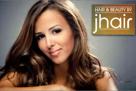 Hair & Beauty by Jhair - Full head of highlights or lowlights, plus a wash, cut, blow dry and head massage - Save 71%