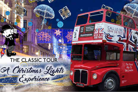 The Classic Tour - Childs ticket or adult ticket for a Christmas Lights Classic Bus Tour - Save 41%