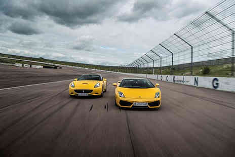 Buyagift - Double supercar driving blast experience with high speed passenger ride and photo - Save 0%
