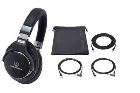 Hanaco - Pair of Audio Technica ATH MSR7BK high resolution over ear headphones - Save 0%