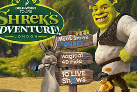 DreamWorks Tours - Shrek's Adventure! London and Two-Course Meal For Two - Save 25%
