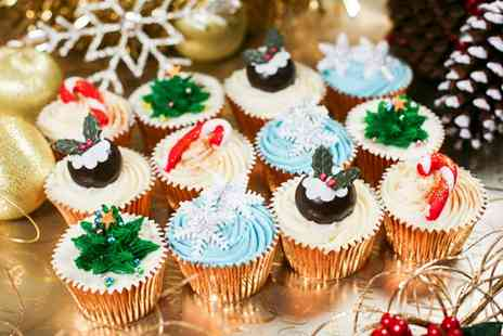 3D Cakes - 12 Christmas or Gourmet Luxury Cupcakes of Choice - Save 77%