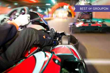 Indoor Super Karting - 20 or 45 Go Kart Laps for 10 People or Endurance Event - Save 35%