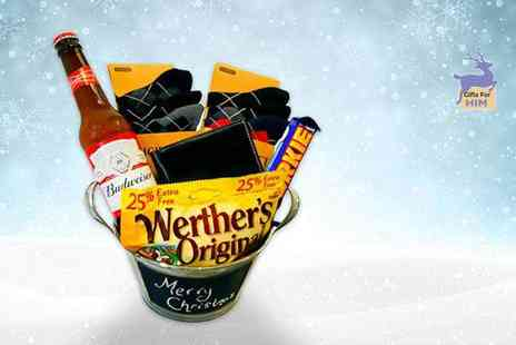 IQGB - Luxury Christmas hamper for him including a beer bucket, wallet, six pairs of argyle socks and more - Save 62%