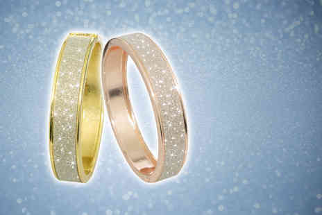 Aspire - Crystal dust bangle choose from silver plated or rose gold plated - Save 80%