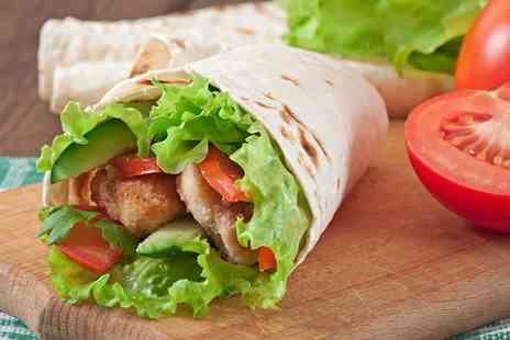 Zabardast - Wrap and Hot Drink for One, Two or Four - Save 35%