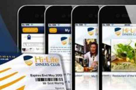 Hi-Life Diners Club - Hi-Life Diners Club restaurant card with an easy-to use Android and iPhone app - Save 74%