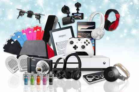 Wowcher Direct - Mystery Electronics Deal of products include an Apple watch, Xbox One, Jawbone UP2, Beats by Dre, Sony camera, wireless speakers, powerbank and more - Save 0%