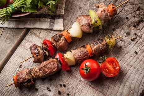 Turkish Meze Bar and BBQ - Three Course Turkish Meal for Two or Four - Save 49%
