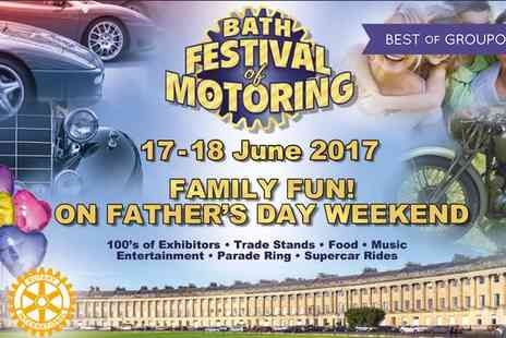 Bath Festival of Motoring - Entry for Two Adults or a Family of Five Bath Festival of Motoring on 17 To 18 June 2017 - Save 25%