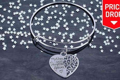 Crazee Trend - Silver Plated Mother and Daughter Bracelet - Save 83%