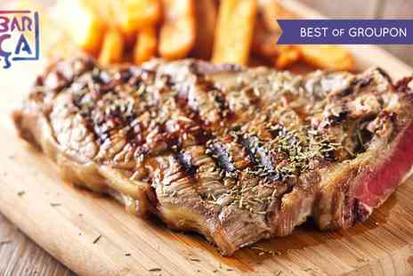 Barca Bar & Restaurant - Sirloin Steak Meal for Two or Four with a Bottle of Wine to Share Between Pairs - Save 58%