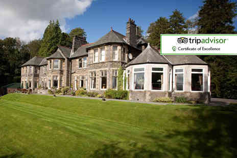 Merewood Country House Hotel - Overnight stay for two with cream tea or Windermere cruise tickets - Save 52%