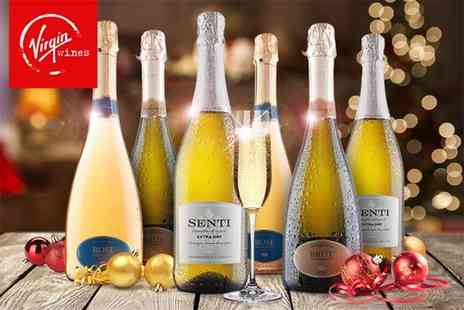 Virgin Wines - Six bottle selection of festive fizz make your Christmas sparkle - Save 50%