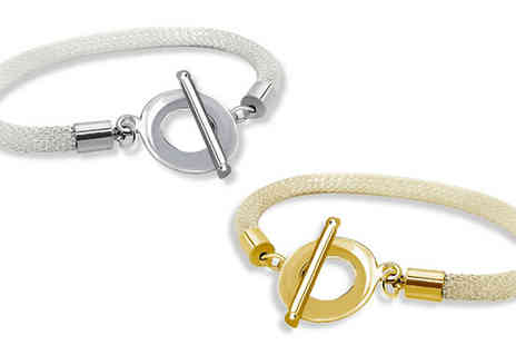 Voodoo Black - 18K Gold Toggle Bangle for White Gold or Gold Plated - Save 77%