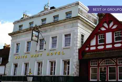 The White Hart Hotel - One or Two Nights Stay for Two with Breakfast, 3 Course Dinner, Late Check Out and Spa Access - Save 36%