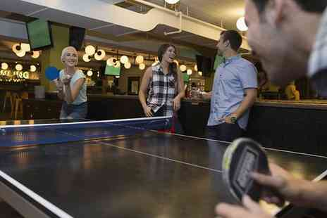 The Ball Room Sports Bar - Two Hours of Pool, Ping Pong or Snooker and Cheese Nachos Platter for Up to Six - Save 47%