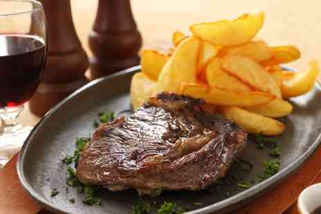 Mondello - Steak Meal with Wine for Two or Four - Save 49%
