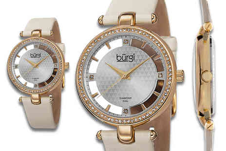 Buy Bay - Burgi watch choose from black, white, ivory and beige - Save 83%