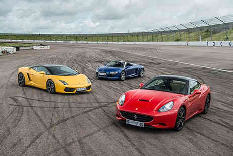 Buyagift - Triple supercar driving blast experience and high speed passenger ride - Save 20%